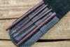 SK Knives: Milled TiSushi Sticks Annodized Two Tone Dark Bronze w/ Leather Storage Case