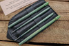 SK Knives: Milled TiSushi Sticks Anno Green w/ Leather Storage Case