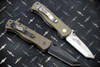 Ernest Emerson: CQC-7  Right Hand Grind - Green Canvas Micarta - Black Blade & Hardware w/ Steel Flame Koi