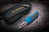 No Limit Knives Akuma Dagger Satin M390 Blue w/ CF Inlay