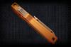 No Limit Knives Akuma Tanto Satin M390 Burnt Orange Gold w/ CF Inlay