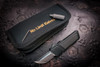 No Limit Knives Akuma Tanto Satin M390 Black w/ CF Inlay