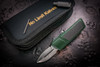 No Limit Knives Akuma Dagger Satin M390 Green w/ CF Inlay