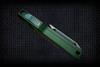 No Limit Knives Akuma Tanto Satin M390 Green w/ CF Inlay