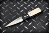 Protech Knives: Godson Tuxedo Automatic Knife Ivory Micarta Satin Blade - 751