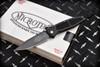 Microtech Knives Mini Socom Manual Knife Black Aluminum Handles and Blade  08/1998