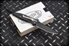 Microtech Knives Socom M/A Manual Knife Black Aluminum Handles and Blade 10/1998