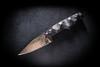 Bawidamann Blades Muninn Slicer Grind Acid Etched Bronze PAT 1 w/ Discreet Carry Clip