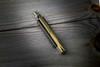 "Frank Beltrame Knives 9"" Italian Stiletto Automatic Bayonet Knife Dark Horn Satin Blade"
