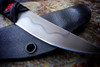 Ecos Knives Small Hamon Lined Tanto Blade w/ Red/Black Handle