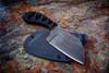 Ecos Knives Acid Etched Cleaver Knife w/ Black/Black Handle and Kydex Sheath