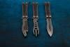 Maxace Knives Loran Butterfly Knife Satin Dagger Blade w/ Titanium and Carbon Fiber Handles