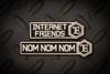 NOM NOM NOM / FRIENDS PATCH SET - DISCO.