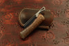 Norse Artefakt: Druzil Friction Folder with Textured Copper Handles Dark