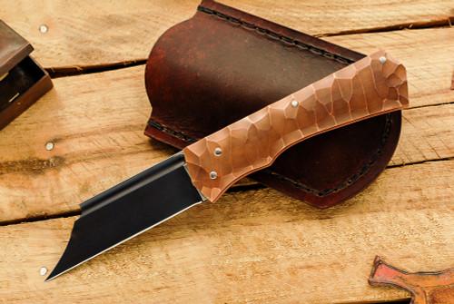 Norse Artefakt: Druzil Friction Folder with Textured Copper Handles         C