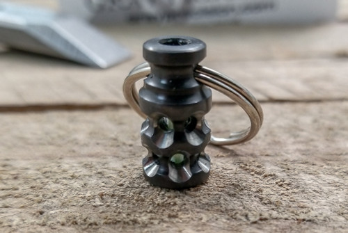 Gray Precision Firefly Lantern Zirconium w/ Green GITD Tritium