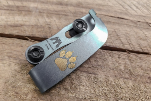 Mummert Knives: Slotted Ti Gold Paw Clip
