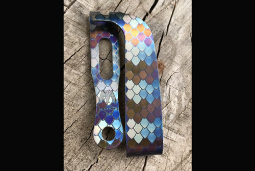 Mummert Knives Slotted Ti Dragon Scale Clip