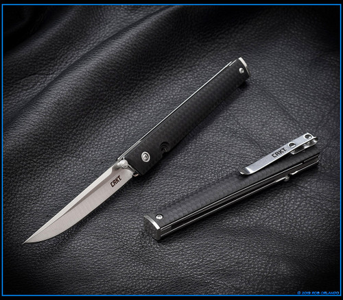 CRKT CEO Liner Lock Knife Black GRN Satin Blade - 7096