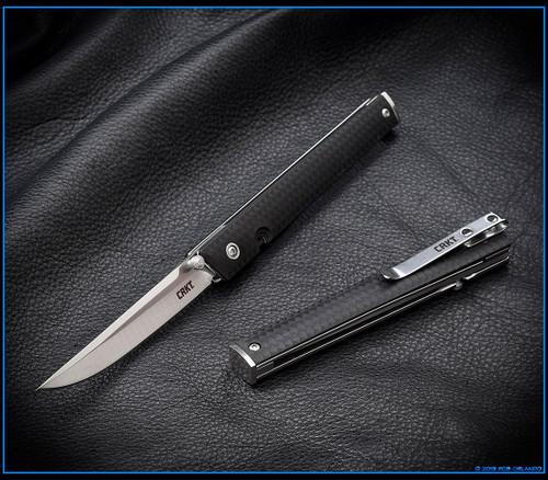 CRKT: CEO Liner Lock Knife Black GRN - Satin Blade
