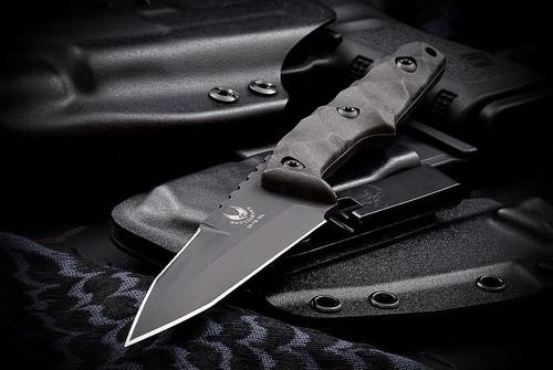 Bawidamann Blades Huginn Top Edge Black Blade w/ Discreet Carry Clip