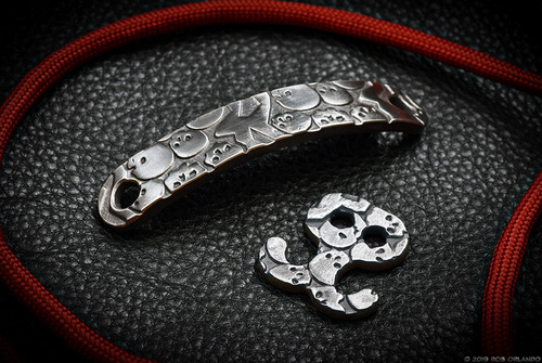 RMJ Tactical Forged Stainless Steel Catacomb of skulls Bracelet