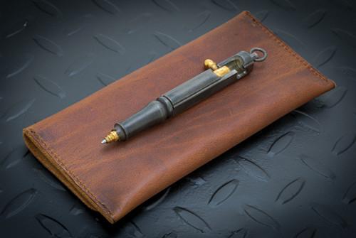 Hidetoshi Nakayama Large Bolt Action Pen Steel w/ Brass