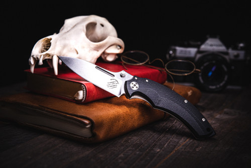 Bastinelli Creations BBR2 IKBS Satin Blade Black G-10