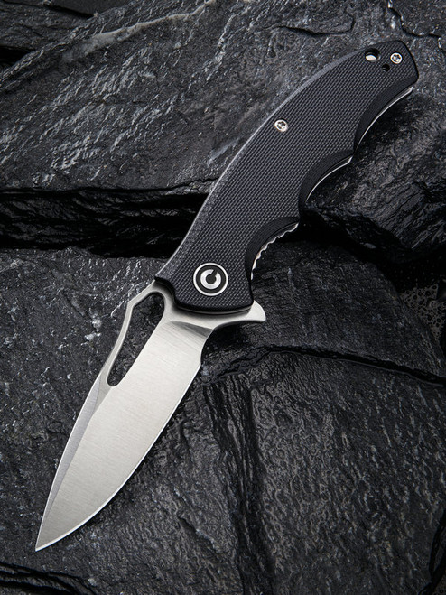 CIVIVI: Little Fiend Flipper Knife Black G-10 Satin C910C