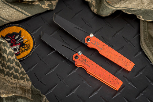 S & W Metalworks Go2 Orange Tanto Black