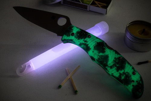 Spyderco Knives Limited Edition Endura 4, Plain Satin Blade w/ Glow in the Dark ZOME Handle C10ZFPGITD