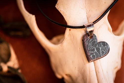 Audra Draper: Stainless Heart w/ Silver Bail