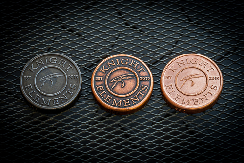 Exclusive Knight Elements Limited Edition Hammered Worry Coin - Copper