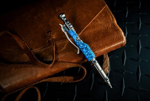 Hidetoshi Nakayama Bolt Action Pen w/ Clip Turquoise