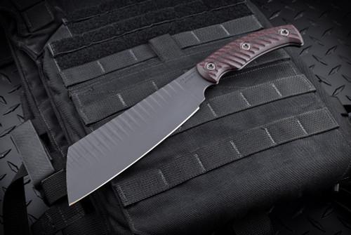 RMJ Tactical Da Choppa Black/Cherry - Black Cerakote w/ Kydex Sheath