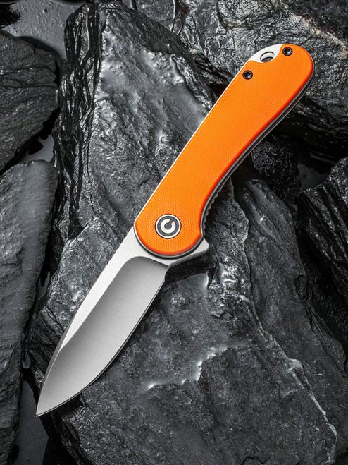 CIVIVI Elementum Liner Lock Knife Orange G-10 Satin C907R