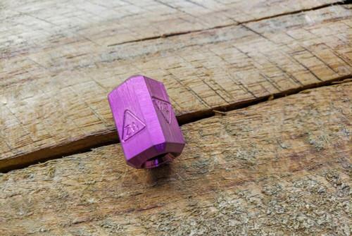 Zach Wood Handmade Titanium Bead w/ ZW Stamp Annodized Purple