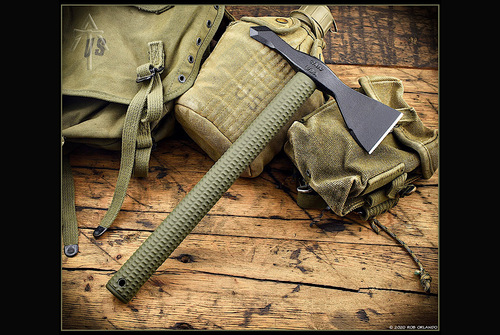 American Tomahawk Company Model 1 - Nylon Handle -  OD Green/Black w/ Kydex Sheath