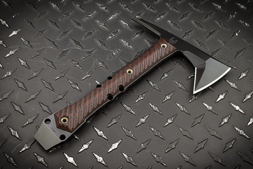 RMJ Tactical and Bawidamann Blades Collaboration Dvalinn Black/Cherry - Black Elite Cerakote - DISCOUNTINUED