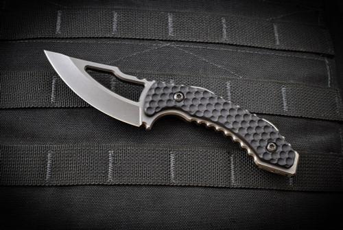Skyraider Knives SRK-1 Skinner Black Aluminum Handles Black Nitride Blade w/ Kydex