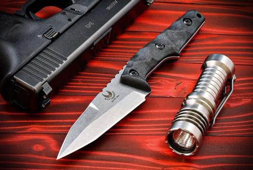 Bawidamann Blades Huginn Top Edge Stonewashed Blade w/ Discreet Carry Clip