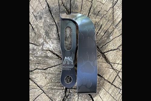 Mummert Knives Slotted Ti Black Dog Clip
