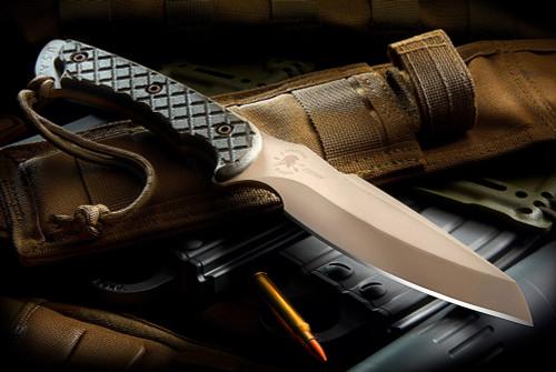 Spartan Blades Hybris Combat / Utility Knife CE Canvas Micarta Handles