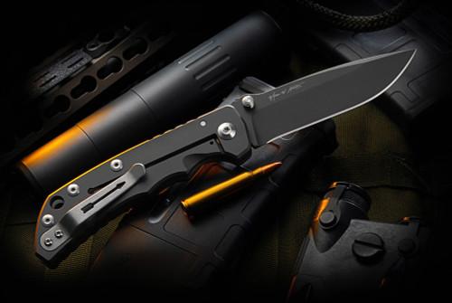 Spartan BladesHarsey Folder Blackout w/ Titanium Handles
