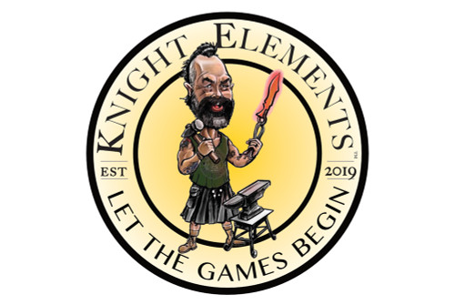 Knight Elements Let the games begin - 1 pack of 5 stickers