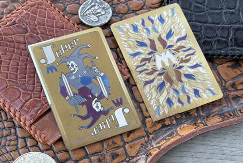Mummert Knives Gold Joker Card CC-L