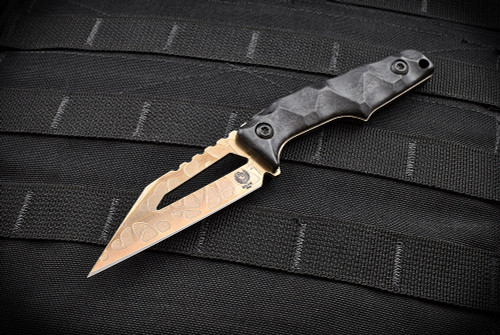 Bawidamann Blades Stark V2 Acid Etched Bronze w/ Discreet Carry Concepts Clip