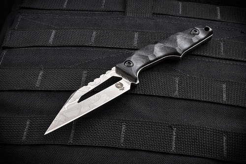 Bawidamann Blades Stark V2 Acid Etched Silver w/ Discreet Carry Concepts Clip