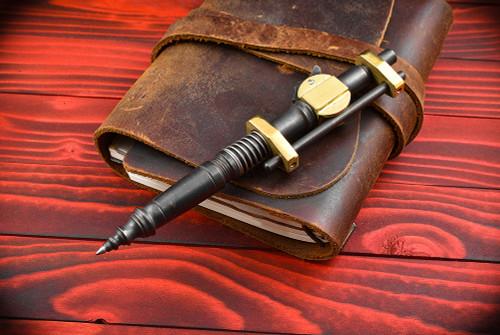 Hidetoshi Nakayama SteamPunk Knock Pen in Steel w/ Brass