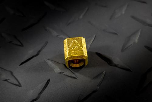 Zach Wood Handmade Brass Lanyard Bead w/ ZW Stamp